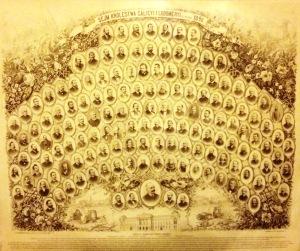 Michał Michalski Sejm Królestwa Galicyi i Lodomeryi 1890 posłowie tablica ze zdjęciami