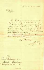 c.k. Namiestnictwo Lwów do Michała Michalskiego 1905 wizyta Szacha Perskiego