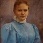 Maria Legeżyńska z d. Michalska 1896 portret