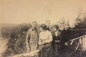 Michał Legeżyński, Maria i Władysław Skarbińscy i in 1916 r