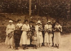Michał, Maria, Maria z Michalskich Legeżyńscy i in 1916 r
