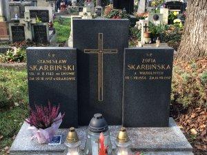 grobowiec Stanisława Skarbińskiego i Zofii z Wądolnych Skarbińskiej Kraków Rakowice 2014 r