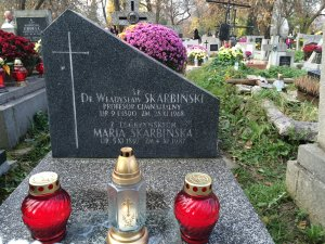 grobowiec Władysława Skarbińskiego i Marii z Legeżyńskich Skarbińskiej Kraków Rakowice 2014 r