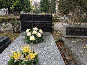 grobowiec Wacława Zawilińskiego i Marii ze Skarbińskich Zawilińskiej Warszawa Powązki 2014 r