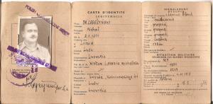 Michał Legeżyński 1944 legitymacja oficera służby zdrowia Armia Andersa