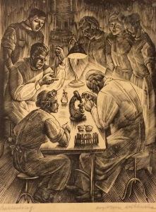 litografia Bakteriolog Krystyny Wróblewskiej