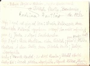 Brzuchowice ok. 1930 r z rodziną Hartlów opis zdjęcia