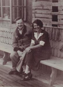Jadwiga z Serafińskich i Michał Legeżyńscy, Zakopane ok 1950