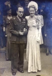 Tadeusz i Elsie Mortlock Legeżyńscy śłub 1946