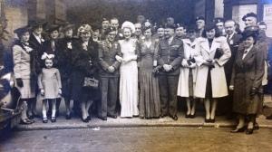 Tadeusz i Elsie Mortlock Legeżyńscy ślub 1946r