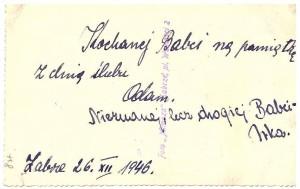 Adam i Irena Hartlowie, Zabrze 1946