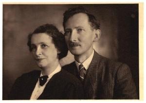 Jadwiga i Włodzimierz Mozołowscy, znajomi Jadwigi Legeżyńskiej, Gdańsk 1947