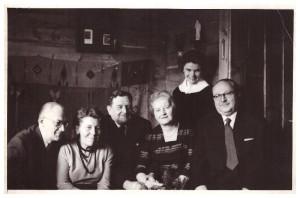 Zakopane 1969r, od lewej Edmund Hilczer, Jadwiga z Szydłowskich Legeżyńska, Michał Legeżyński, Ludwika ze Stronerów Legeżyńska, Ziuta Zygmunt, Stanisław Legeżyński