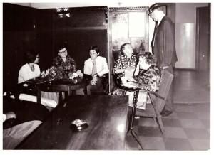 od lewej Małgorzata Legeżyńska, Helena Skarbińska, Jan Legeżyński, Maria Skarbińska, Jadwiga Legeżyńska, Stanisław Skarbiński, Kraków 1975r