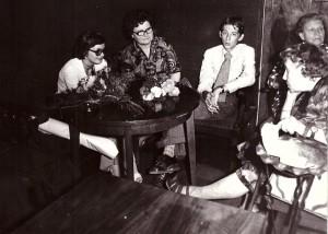 od lewej Małgorzata Legeżyńska, Helena Skarbińska, Jan Legeżyński, Maria Skarbińska, Jdwiga Legeżyńska, Krków 1975r