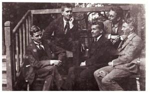 od lewej Michał Legeżyński, Adam Sołtysik, Tolek Dziułyński, Genek Wysocki, Władek Tobiczyk