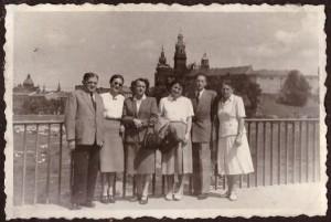 1952 r od lewej Władysław, Irena, Maria Zawilińska, Helena, Adam, Maria Skarbińscy