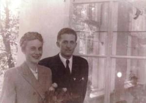 Irena i Adam Skarbińscy ślub 30 09 1950 r