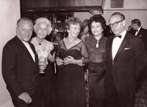 od prawej Tadeusz i Bożena Legeżyńscy, Helena z Legeżyńskich Olszewska lata 60te