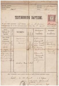 akt urodzenia Kazimierza Legerzyńskiego