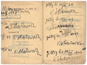 Ausweis 1943-44 r Lwów z poświadczeniem zatrudnienia 2