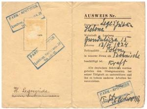 Ausweis 1943-44 r Lwów z poświadczeniem zatrudnienia