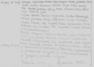 Gośka 1968 lista klasy VIIIa