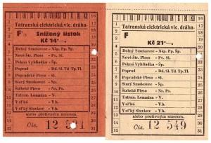 Polskie Towarzystwo Tatrzańskie bilety kolejki Strbskie Pleso 21 08 1927 r awers Michał Legeżyński