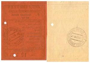 Polskie Towarzystwo Tatrzańskie bilety kolejki Strbskie Pleso 21 08 1927 r rewers Michał Legeżyński