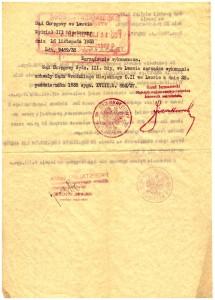 Sąd Okręgowy we Lwowie zarządzenie wykonawcze 1938 r