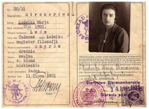 dowód osobisty RP 1931 r Chyrów rewers Ludwika Stroner
