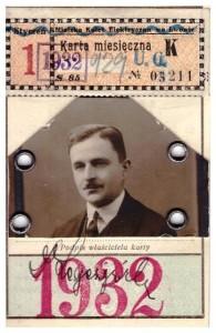 karta tramwajowa Lwów 1932 rewers Michał Legeżyński