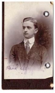 legitymacja zniżkowa PKP 1921 Lwów - Brzuchowice awers Michał Legeżyński