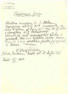 poświadczenie pracy w Park-apotheke Lwów 1942-44