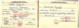 wpisy w indeksie  o obronie pracy magisterskiej i ukończeniu studiów AGH 1978 r