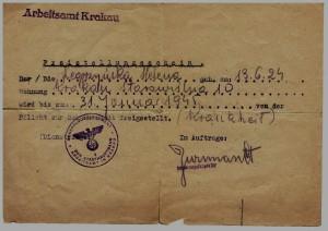 zwolnienie z obowiązku kopania rowów Kraków 1944