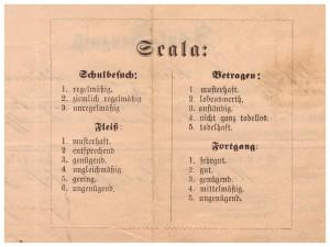 świadectwo klasa V 1881 r szkoły ewangelicznej Lwów skala ocen