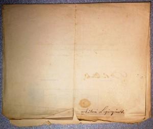 Lwów 1882r świadectwo I półrocze klasy pierwszej szkoły realnej Kazimierz Legeżyński, podpis ojca Antoniego