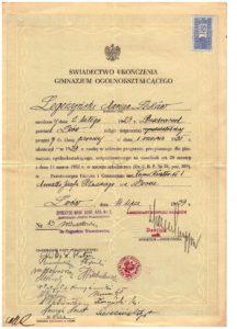 swiadectwo-ukonczenia-gimnazjum-1939-r-lwow-korpus-kadetow-marian-legezynski