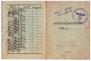 Arbeitsausweis Lwów Józef Legeżyński