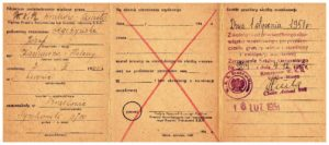 zaświadczenie o zwolnieniu ze służby wojskowej 1951 r Józef Legeżyński 2